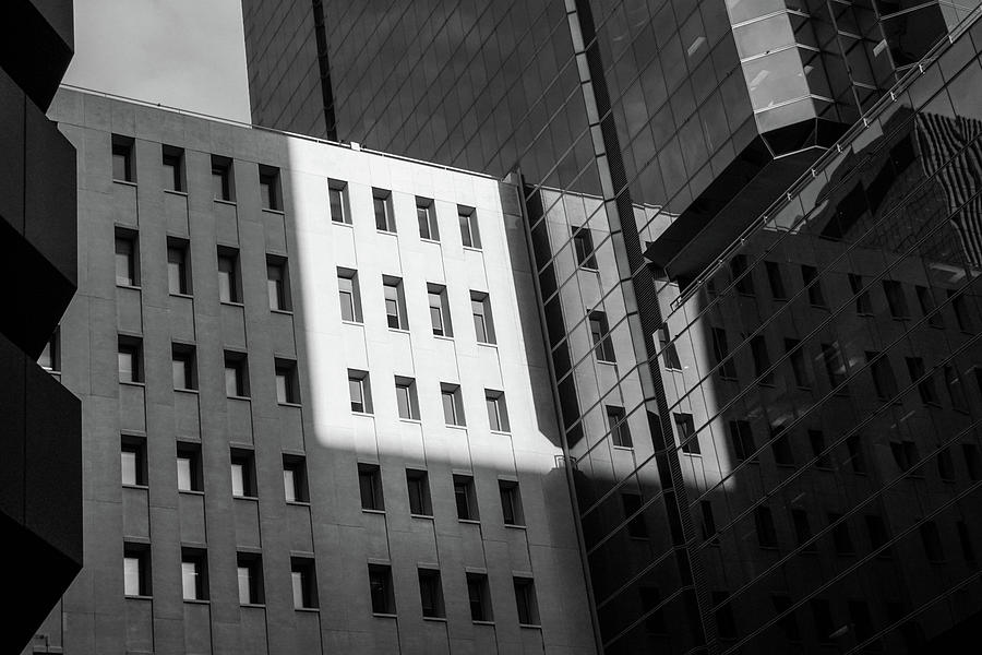 Black And White Photograph - City Grid by Paki OMeara