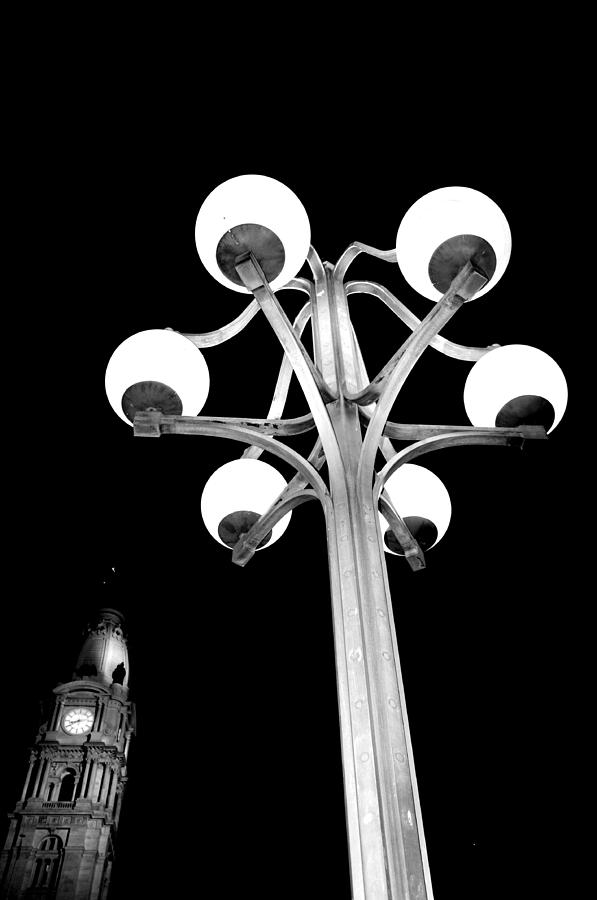 Cira Building Photograph - City Hall Lamp by Andrew Dinh