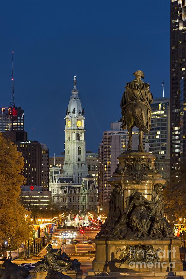 Fountain Photograph - City Hall Philadelphia by John Greim