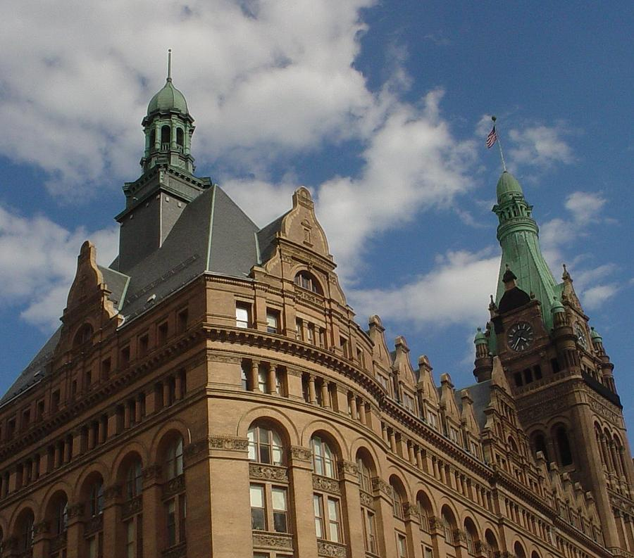Milwaukee Photograph - City Hall Roof And Tower by Anita Burgermeister