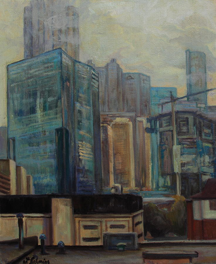 City Painting - City In The Cityscape by Maris Salmins