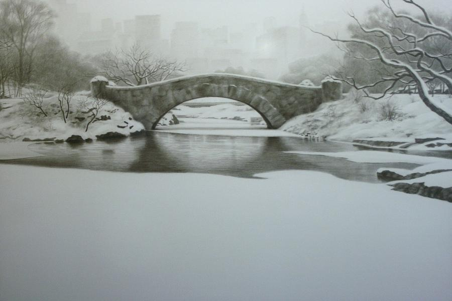 Pencil Drawing Drawing - City Landscape by Michael Vires