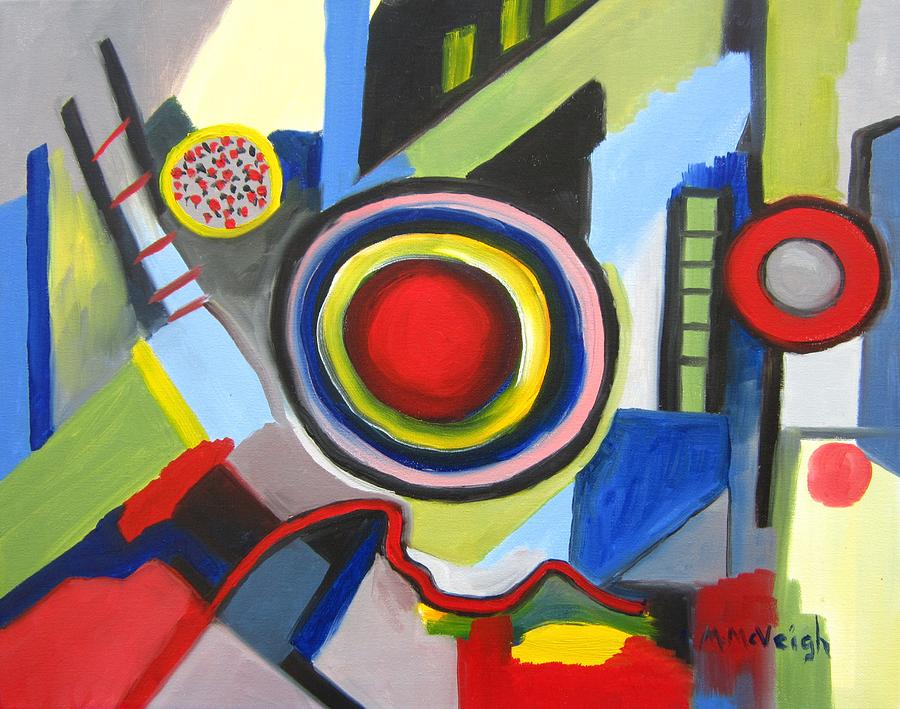 Abstract Painting - City Life by Marita McVeigh