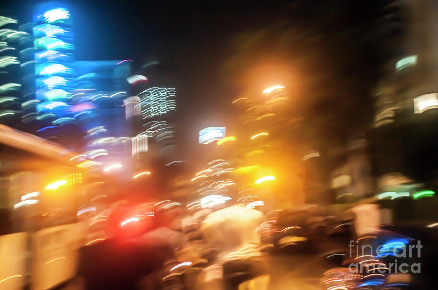 City Lights At Night Photograph By Humorous Quotes