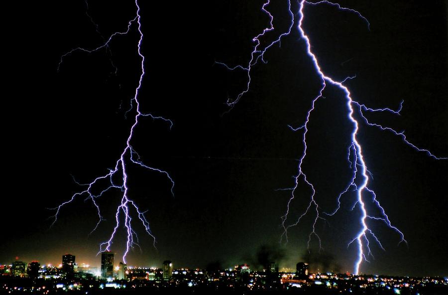Arizona Photograph - City Lights by Cathy Franklin