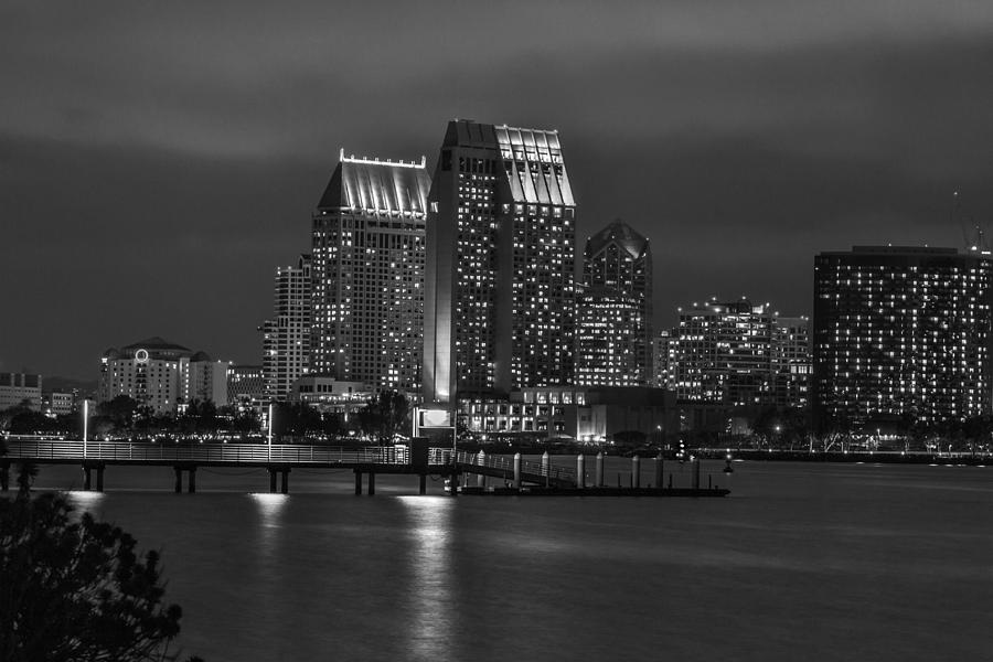 City Lights In Black And White Photograph By Marnie Patchett