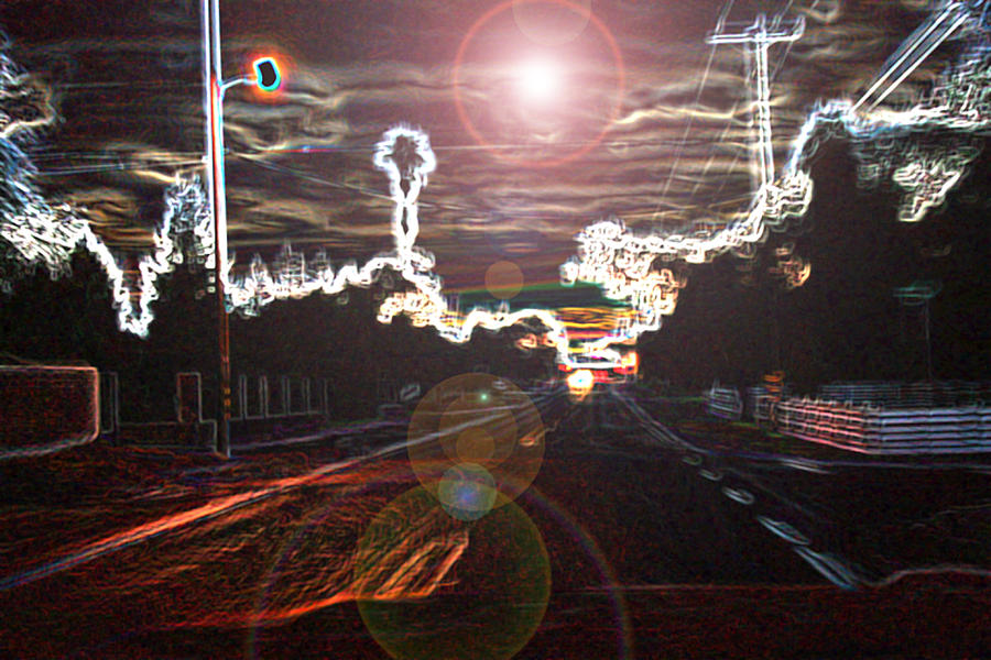 Abstract Digital Art - City Lights by Joshua Sunday