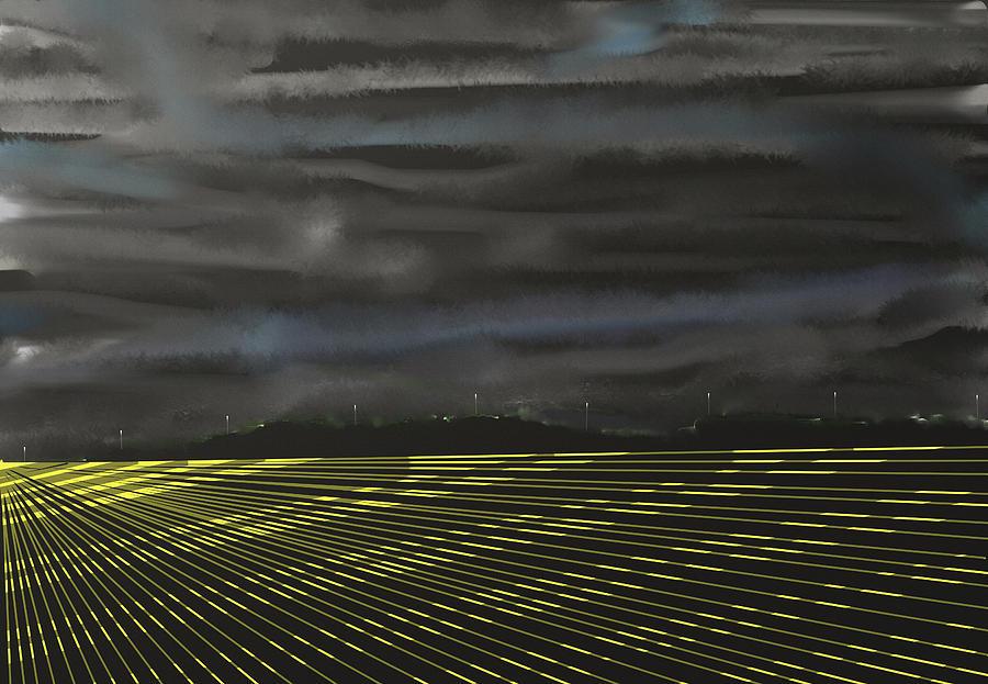 Abstract Digital Art - City Lights by SC Heffner