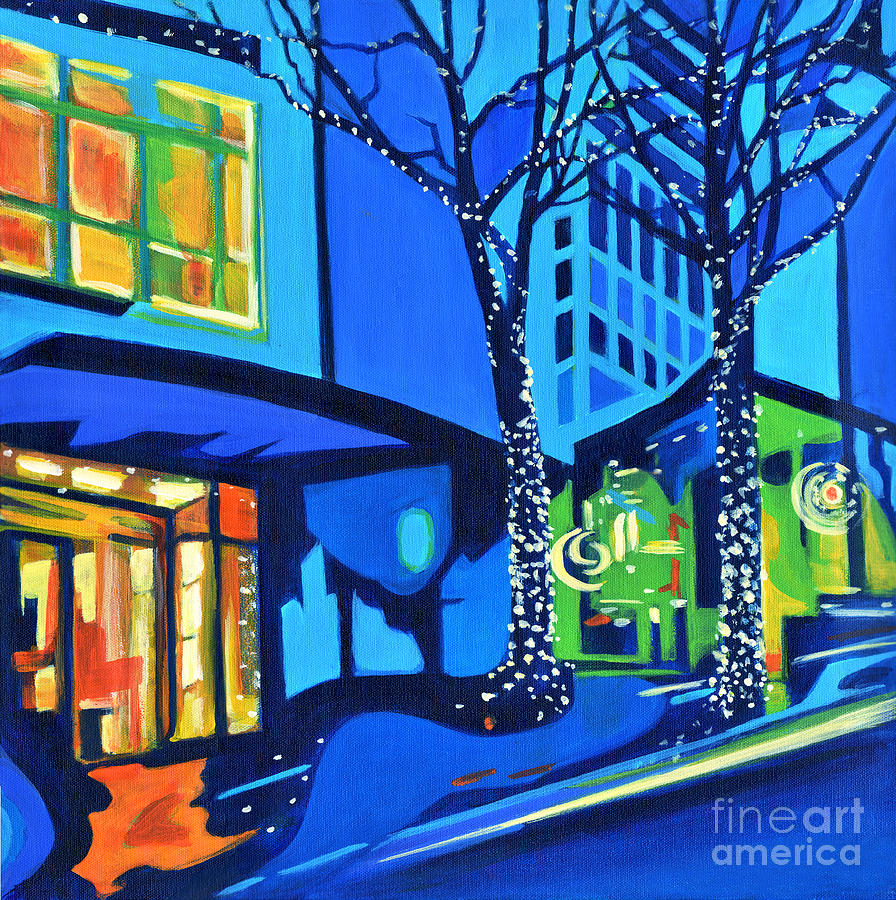 Abstract Painting Painting - City Lights by Tanya Filichkin