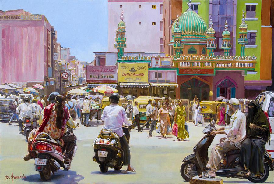 Street Scene in Bangalore, India by Dominique Amendola