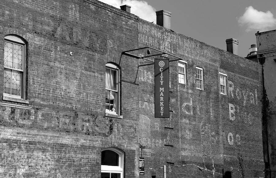 Black And White Photograph - City Market Savannah by David Lee Thompson