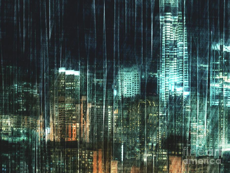 San Francisco Digital Art - City Night Lights by Phil Perkins
