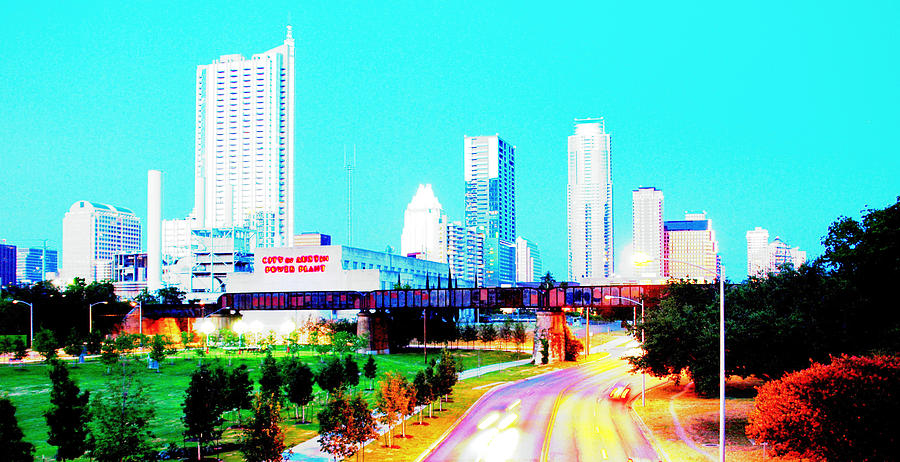 City of Austin From The Walk Bridge 2 by James Granberry