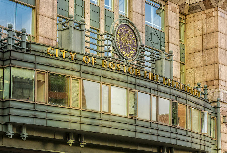 Boston Photograph - City Of Boston Fire Department by Susan Candelario