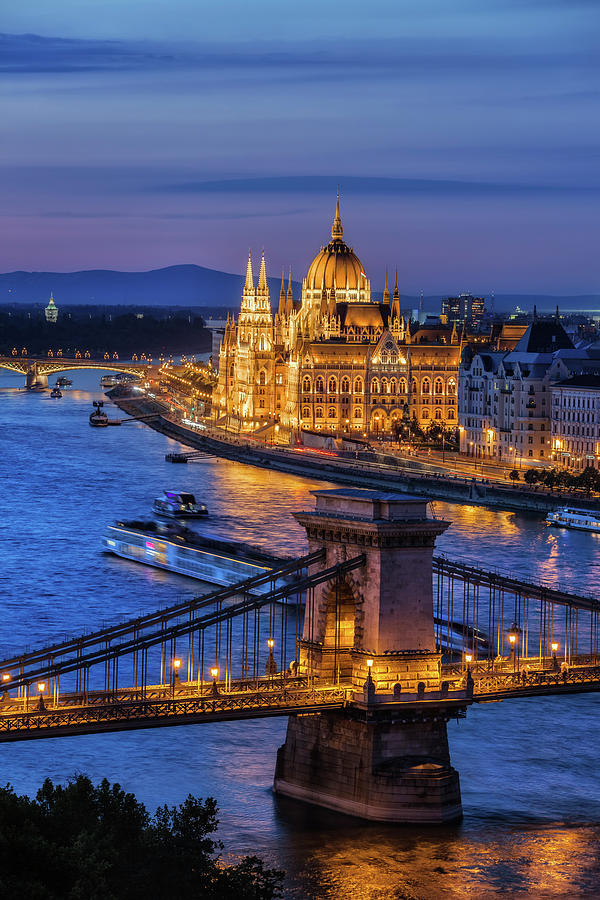 Budapest Photograph - City Of Budapest At Twilight by Artur Bogacki
