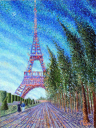 City Of Lights Painting by Perry Milou