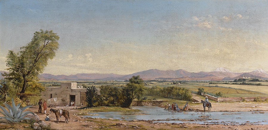 Conrad Wise Chapman Painting - City Of Mexico From The Hacienda De Los Morales by Conrad Wise Chapman