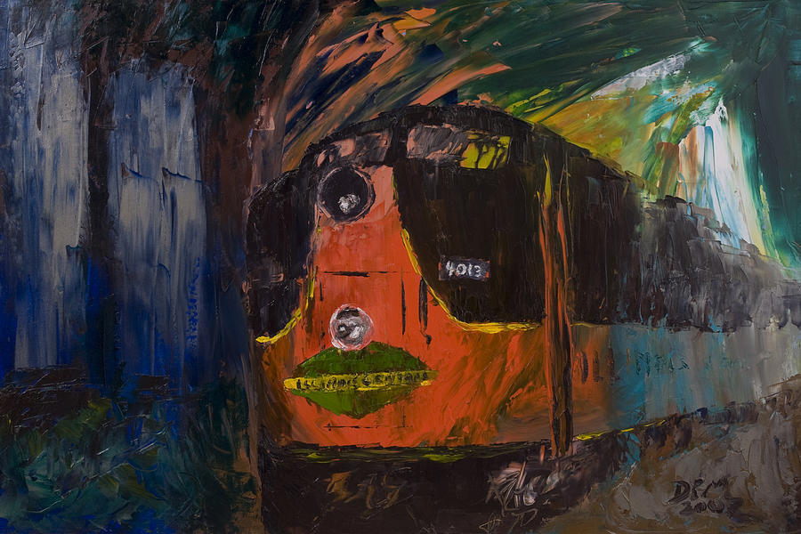 Train Painting - City of New Orleans by David McGhee