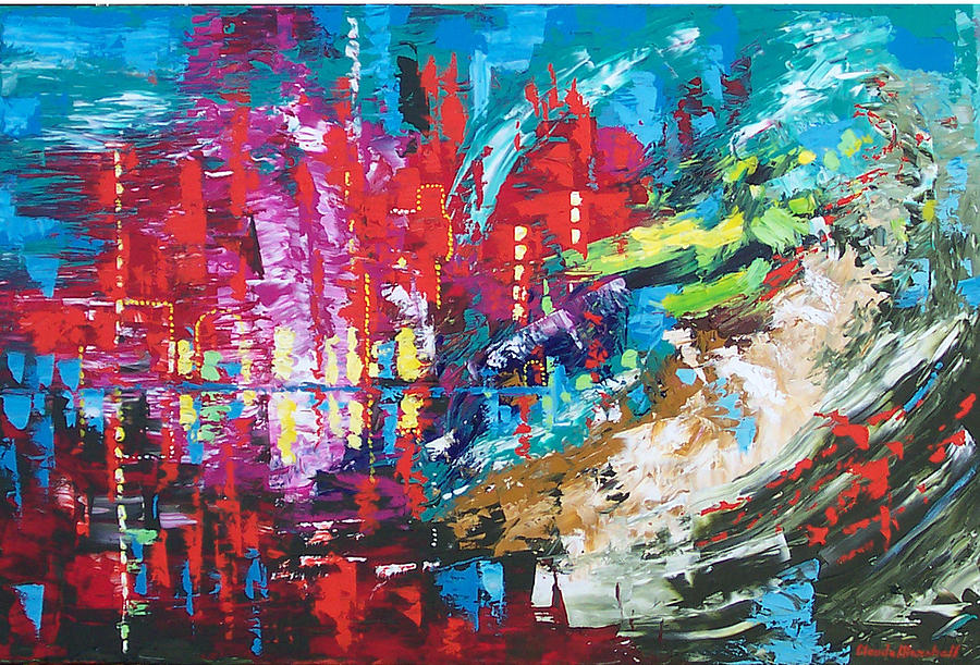Abstract Painting - City Of Oz by Claude Marshall