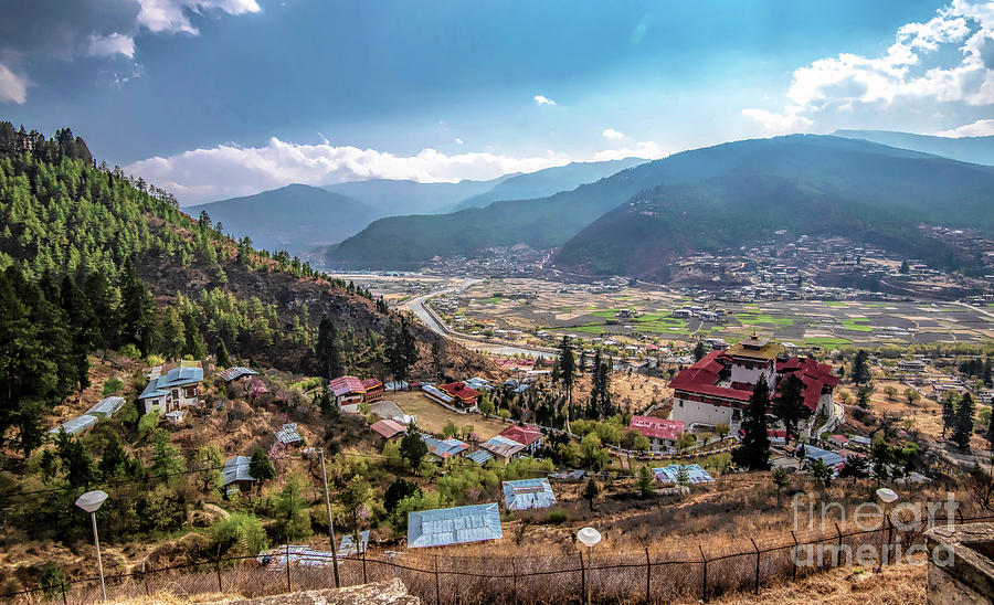 Cityscape Photograph - City Of Paro by Pravine Chester