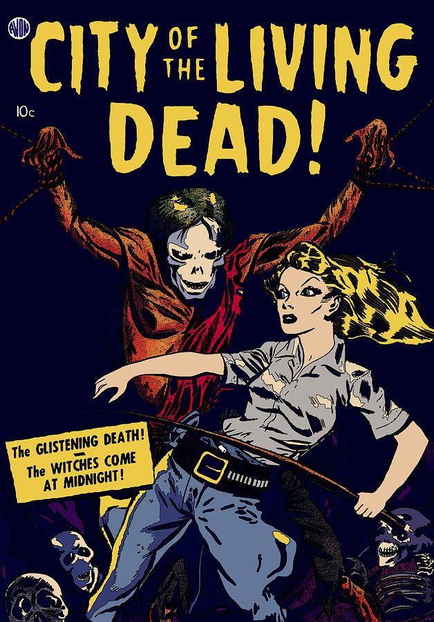 City Digital Art - City Of The Living Dead Comic Book Poster by Joy McKenzie