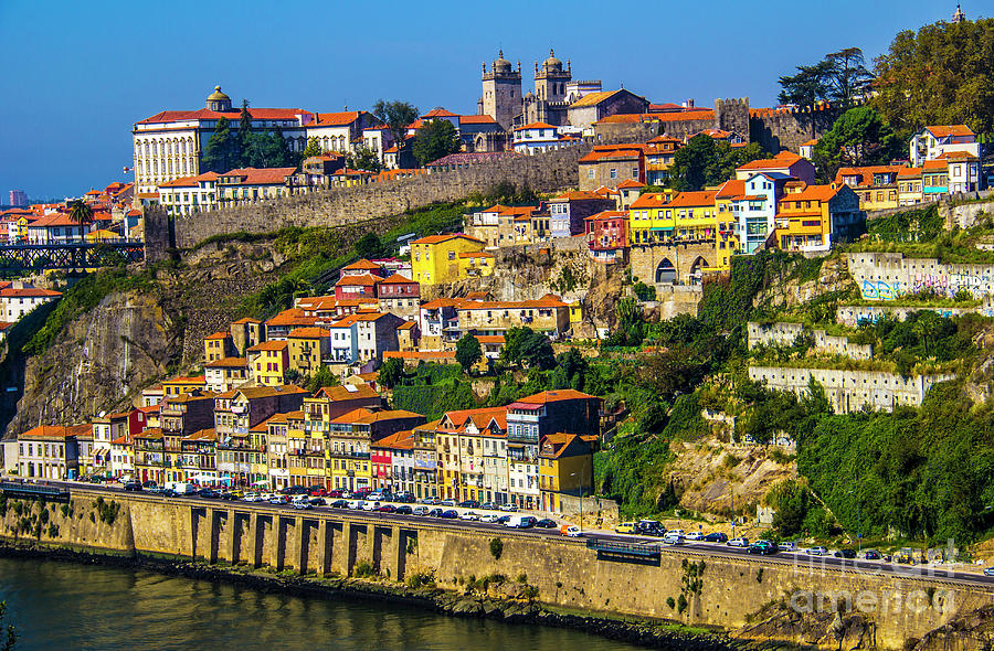 Porto Photograph - City On A Hillside by Roberta Bragan