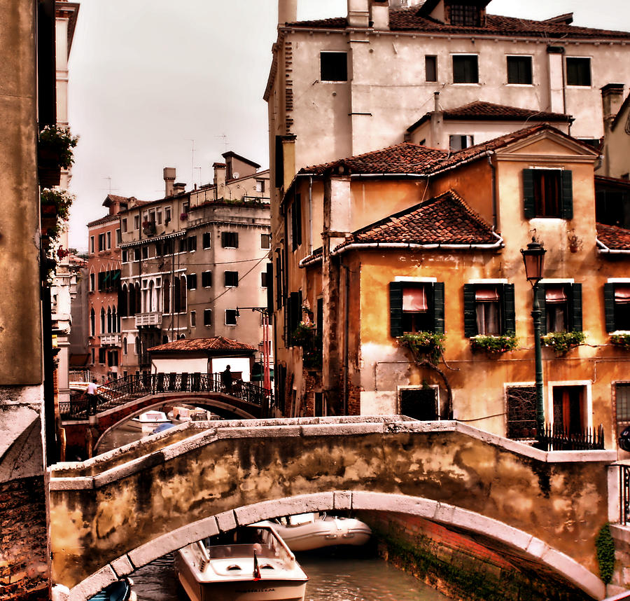 Italy Photograph - City On The Canals by Greg Sharpe