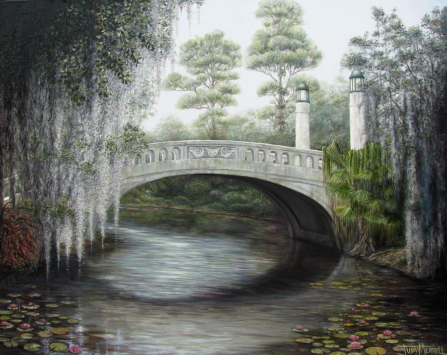Bridge Painting - City Park Bridge by Judy Merrell