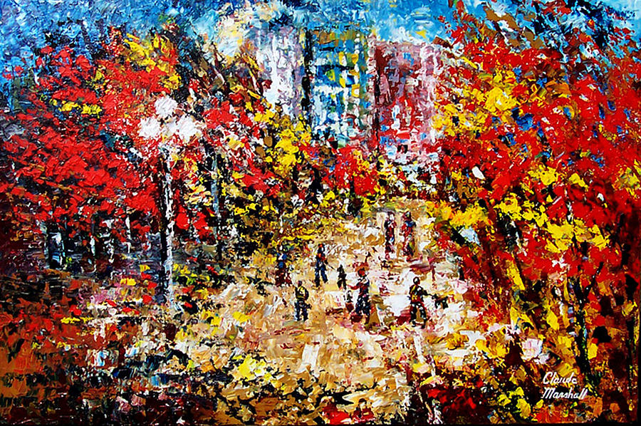 Abstract Painting - City Park by Claude Marshall