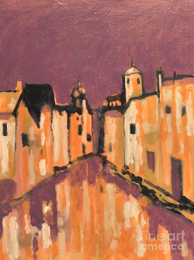 City Street Painting - City Passage by Jon Adams