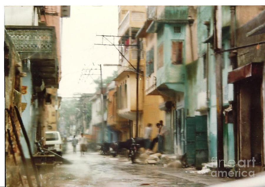city Rain Photograph by Lalit Sharma