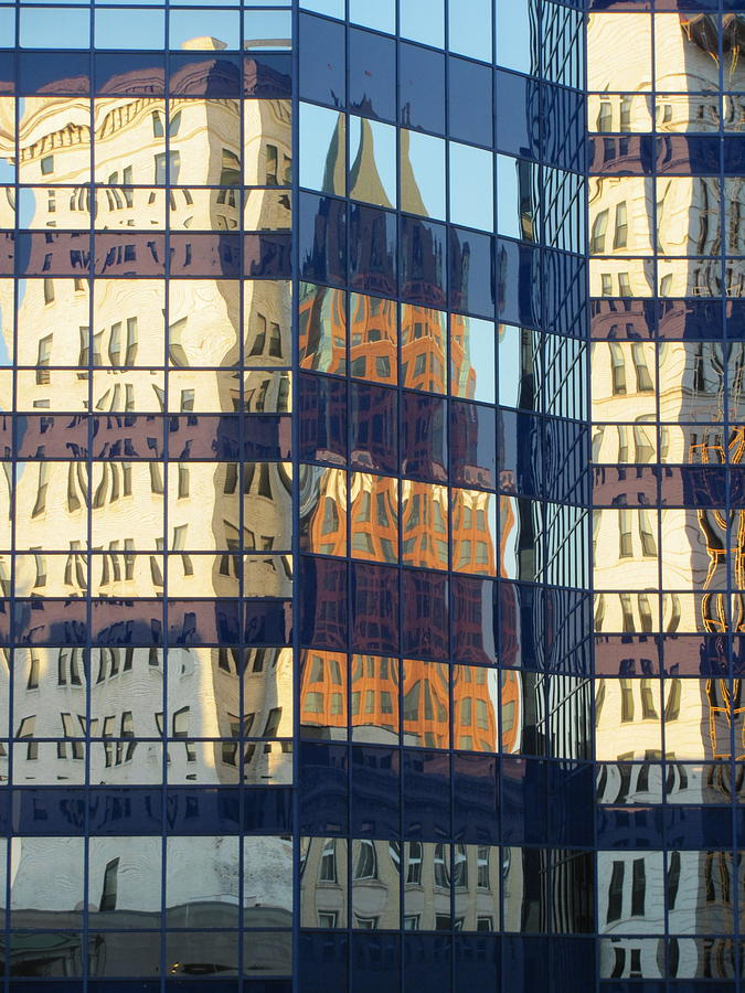 Milwaukee Photograph - City Reflections 1 by Anita Burgermeister