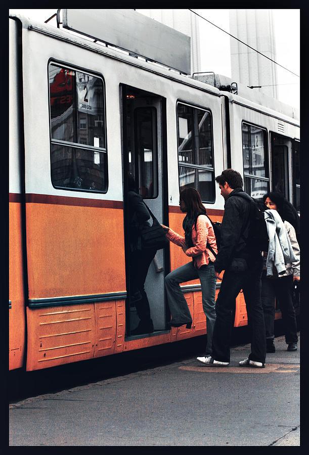 Tram Digital Art - City Ride by Mircea Ciurel
