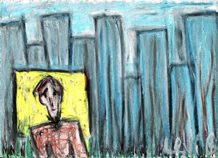 Blue Pastel - City Roots by Levi Glassrock