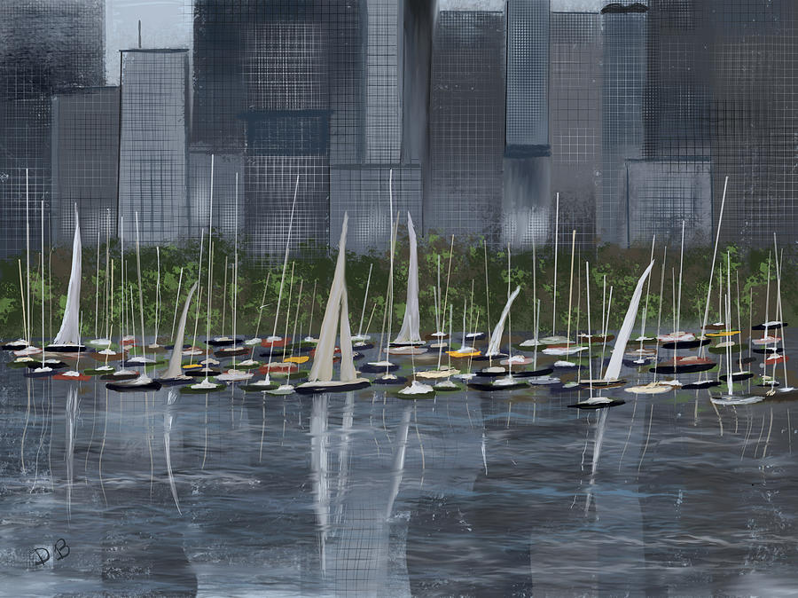 City Sailboats by Dick Bourgault