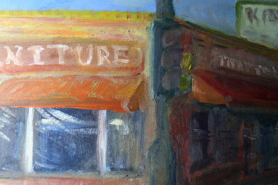 Oil Painting Painting - City Scape Logo by Jeremy McKay