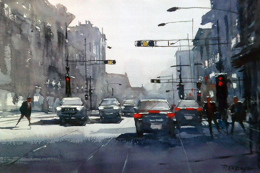 Street Painting - City Shadows 2 by Ryan Radke