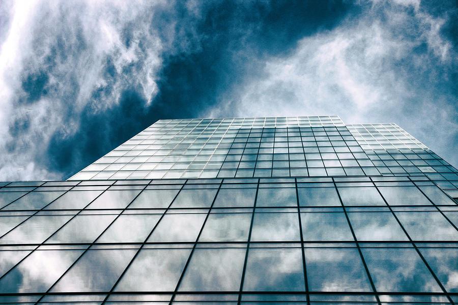 Windows Photograph - City Sky Light by Jessica Jenney