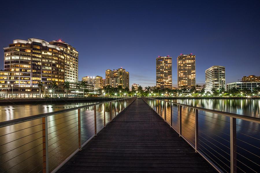 Boats Photograph - City Skyline by Debra and Dave Vanderlaan