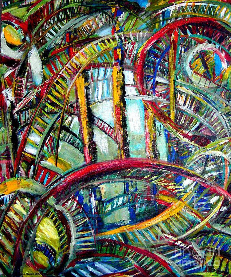 Abstract Painting - City Songs by Angelina Marino