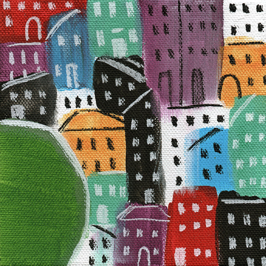 City Stories- By The Park Painting