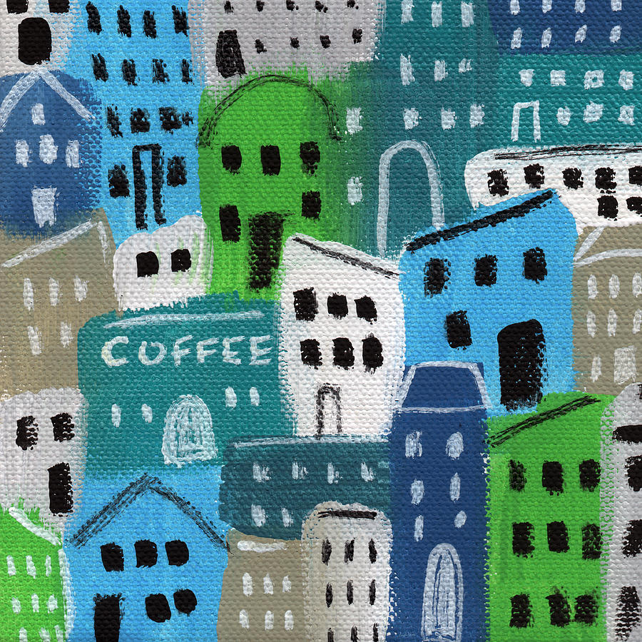 City Stories- Coffee Shop Painting