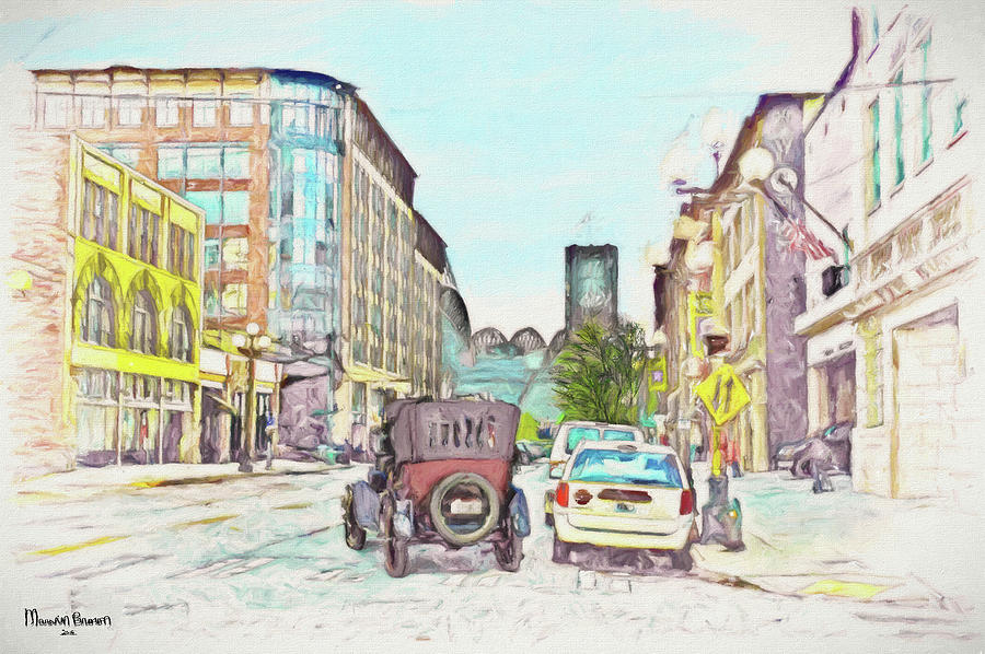 Streetscape Photograph - City Street by Marvin C Brown