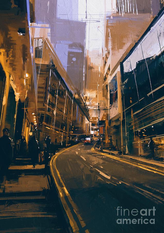 City Street Painting