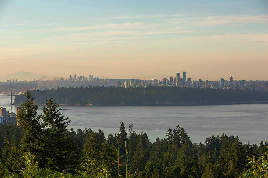 Vancouver Photograph - City View Of Vancouver And Burnaby Bc by David Gn