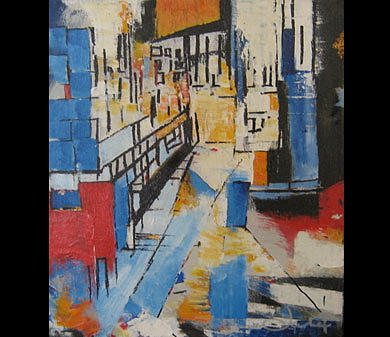 City2 Painting by Talal  Ghadban