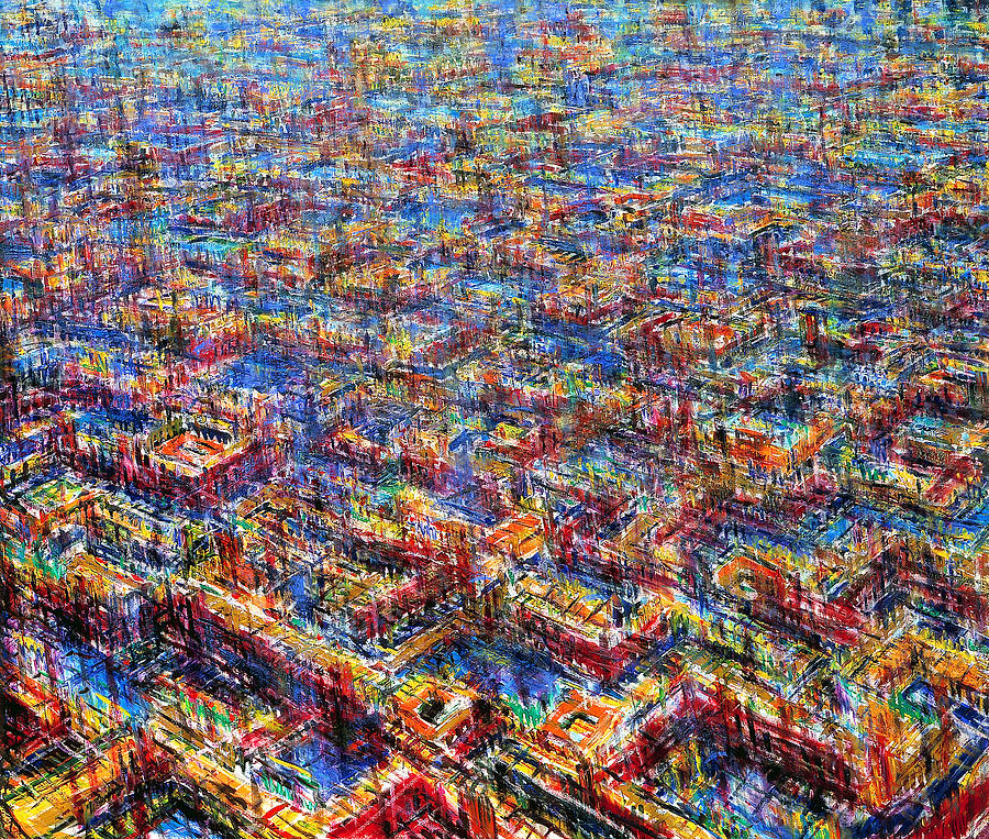 Pattern Painting - Citypattern by De Es Schwertberger