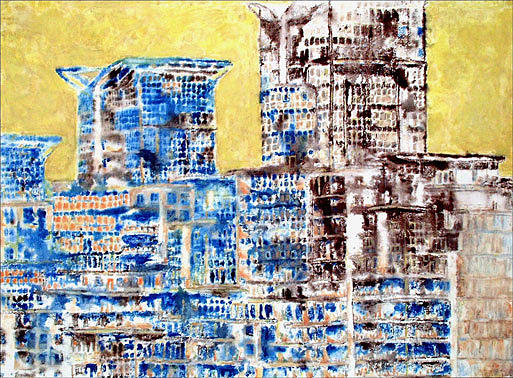 Buildings Painting - Cityscape 2 by Keith  Webb