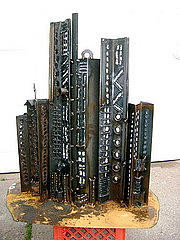 Steel Sculpture - Cityscape 5 by Don Thibodeaux