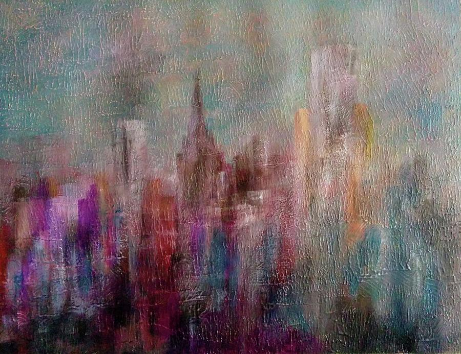 Cityscape Painting by Anthony Camilleri